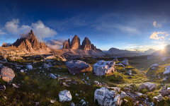 Tre Cime di Laveredo (@hipydeus) Tags: sunset dolomites dolomiten trecime dreizinnen paternkofel montepaterno