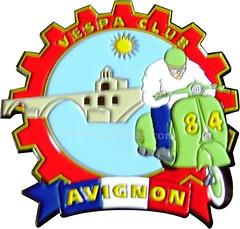 VC Avignon (Un mondo di placche Vespa) Tags: club vespa badge avignon