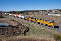 UP 8834 Colorado Springs Wide 21 Apr 16 (AK Ween) Tags: railroad windmill up train colorado coloradosprings unionpacific blades emd sd70ace jointline bladetrain up8834 sd70ah