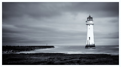 Perchrock lighthouse today. River Mersey (charliefarley231) Tags: longexposure blackwhite newbrighton omdem1