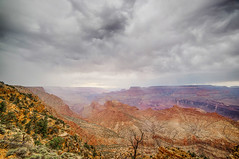 Grand Canyon in the storm (ExceptEuropa) Tags: road travel arizona sky usa mountain storm tree nature rock clouds canon landscape photography nationalpark photographer desert nps grandcanyon horizon az roadtrip geography geology majestic epic traveler grandcanyonnationalpark grandcanyonvillage canon6d   samyang14mmf28 rokinon14mmf28