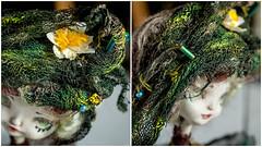 "OOAK doll ""Intoxicating swamp"" (Ksyusha Pol'd) Tags: green fairytale woodland doll waterlily handmade ooak olympus fantasy swamp darkgreen artistdoll ooakdoll miniaturedoll poseabledoll matchboxdoll darkdol"