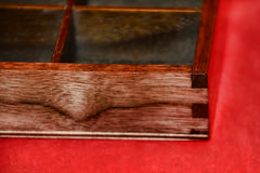 "Walnut(?)/Maple Jewelry Box - DSC_2794l (Ed aka: Dexx) Tags: mirror maple walnut handcrafted veneer box"" splines ""jewelry tray"" ""liftout"