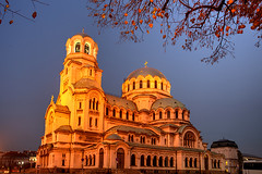 Happy Orthodox Christmas (hapulcu) Tags: autumn cathedral sofia dusk bulgaria bluehour bulgarie bulgarien bulgaristan българия софия