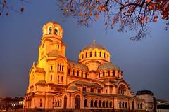 Happy Orthodox Christmas (hapulcu) Tags: autumn cathedral sofia dusk bulgaria bluehour bulgarie bulgarien bulgaristan
