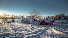 -15C at Srbrten, Utstranda, Tyrifjorden (cpphotofinish) Tags: blue winter light sky cold color colour fall water weather oslo norway fog clouds canon landscape outside eos norge photo foto image cloudy outdoor panoramic norwegian nordic dslr vann bluelight landskap bilde farger mk3 tyrifjorden canonef speiling ef24105mmf4lisusm carstenpedersen mklll eos5dmk3 cpphotofinish