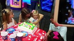Happy Birthday To Maddie (Joe Shlabotnik) Tags: cameraphone birthday video lily singing violet happybirthday madeleine chuckecheeses sarahp 2015 bliksem june2015 galaxys5