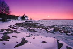 Port au Persil (Carvalho) Tags: sunset snow canada ice moonrise qubec charlevoix portaupersil