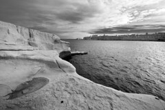 Coastline (albireo 2006) Tags: sea blackandwhite bw seascape coast blackwhite shoreline malta pb nb bn shore coastline seashore sliema valletta blackandwhitephotos blackwhitephotos