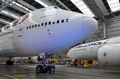 F-GITD CDG AIR FRANCE INDUSTRIE AND F-GSQI (airlines470) Tags: france airport air msn 777 747 cdg ln 502 901 fgsqi 32725 fgitd 25600