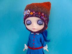 Violet Beauregarde (Helena / Funny Bunny) Tags: doll blythe custom eurotrash violetbeauregarde rbl funnybunny solidbackground kaleidoscopekustoms