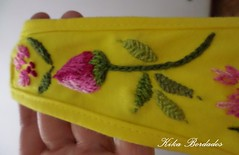 KikaBordados Kika  Krauss 095 (Kika Bordados by Angelica Krauss) Tags: pink flowers flores handmade embroidery laranja crochet tshirt amarelo bordados manualidades croche embroider feitomo camisetabordada camisetabordadamo bordadosfeitomo kikabordadoskikakrauss