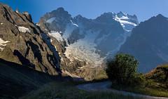 Morneve blend (Michel Couprie) Tags: road morning mountain france montagne canon landscape eos evening glacier 7d michel ef50mmf18ii meije postprocessing hautesalpes lautaret couprie