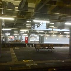lonely platform (troutfactory) Tags: japan digital square empty platform trainstation  lonely toyama takaoka  fluorescentlight  ipod5  takaokastation