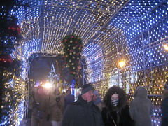 another Christmas tunnel (VERUSHKA4) Tags: lighting christmas street city winter light red sky people holiday tree beautiful canon toys gold lights evening europe boulevard cityscape arch view russia outdoor moscow album january explore ciel favourite vue ville tverskoy hccity