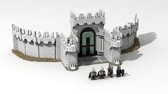 Minas Tirith 01 (Anduin1710) Tags: city white men king minas lego lotr return tolkien middleearth jrr tirith the thelordoftherings ldd gondor digitaldesigner
