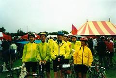 Finish in Stanley Park... (flowerpotman!) Tags: film manchester cycling 2000 kodak scan cc cycle trans blackpool pennine transpennine tpcc