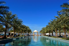 Blue, blue, blue (RSK.2016) Tags: travel blue sky color building tourism water architecture hotel day bright outdoor uae explore swimmingpool palmtrees experience leisure