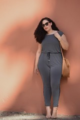 Jumpsuit Weather (GirlWithCurves) Tags: curlyhair jumpsuit plussize curvyblogger plussizejumpsuit