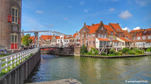 Drawbridge, Old Port, Enkhuizen, Netherlands - 3059