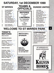 St Mirren vs Dundee United - 1990 - Page 3 (The Sky Strikers) Tags: street love st magazine official dundee united scottish match premier league bq mirren