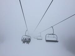 Where are we? (pitschuni) Tags: schnee snow cold fog skiing nebel skilift skifahren iphone6