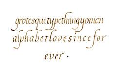 Random italic practice.