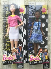 2016 Barbie Fashionistas - Tall & Petite (Foxy Belle) Tags: pink blue brown white black yellow 30 hair toy necklace eyes doll long african barbie skirt pale american 25 short tall petite brocade fashionistas pizazz 2016