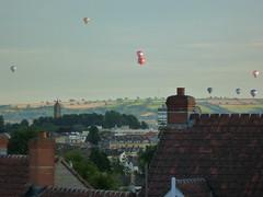 Hot Air Balloon, Bristol, 2015 (Temporealism) Tags: skyline bristol rooftops hotairballoon lanscape cabottower