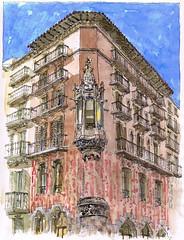 Casa Pompeu Sans (Daniel Castro Alonso) Tags: barcelona arquitectura enric apuntes sagnier