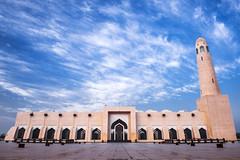 Imam Muhammad ibn Abd al-Wahhab Mosque (Ashraf Khunduqji) Tags: blue sky clouds nikon mosque abd muhammad doha qatar ibn imam 2470mm d810 alwahhab