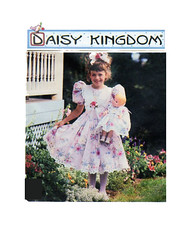 Simplicity 7009 Daisy Kingdom Dress (FindCraftyPatterns) Tags: wedding flower girl toddler doll pattern dress sewing puff kingdom skirt full size simplicity fancy daisy bridal fancydress includes sleeves pagent 3456 7009