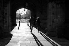 East Pyne Shadows (Dalliance with Light (Andy Farmer)) Tags: shadow bw silhouette stone architecture campus us newjersey unitedstates nj princeton princetonuniversity eastpynehall