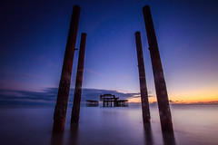 Brighton West Pier between the poles (KVH-P) Tags: uk sunset sea sky beach water clouds sussex pier lowlight nikon brighton waves seascapes slowshutter eastsussex brightonpier sigma1020mm 2016 gitzotripod brightonwestpier leefilters uklandscape sussexlandscape beacheslandscapes d7000 cloudsstormssunsetsandsunrises nikond7000 sussexseascape