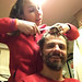 Aparando os cabelos
