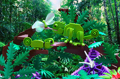 Chameleons (Faron*) Tags: nature rainforest lego chameleon abs moc npu afol