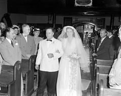 P_0008_0011.jpg (The Digital Shoebox) Tags: wedding people 1948 church bride events year ceremony location indoors activity walkingdownaisle