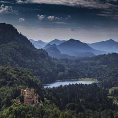 Hohenschwangau (ponzoosa) Tags: lake castle lago castelo luis ludwig castillo ludovico hohenschwangau panormica hohen