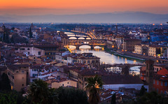 Firenze Nights (davecurry8) Tags: italy night river florence italia cityscape cathedral firenze duomo arno pontevecchio piazzalemichelangelo
