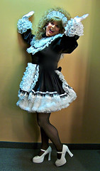 Raising the roof, apparently (jensatin4242) Tags: sissy transvestite satin maid crossdresser petticoat sissymaid jensatin