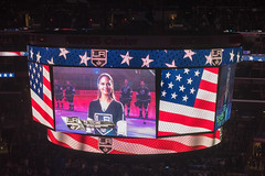 Pia Toscano (mark6mauno) Tags: piatoscano pia toscano anthem sing scoreboard losangeleskings losangeles los angeles kings nationalhockeyleague national hockey league nhl 201516 staplescenter staples center nikkor 50mmf14d nikond810 nikon d810 ar3x2