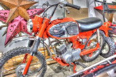 Kawasaki Slide (mazzmn) Tags: orange bike vintage star garage 1966 motorcycle hdr kawasaki hss j1r