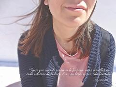 Sonrisa Benedetti ([Mara JPM]) Tags: portrait sunrise retrato sonrisa frases benedetti