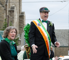 Grand Marshal John Tobin and wife