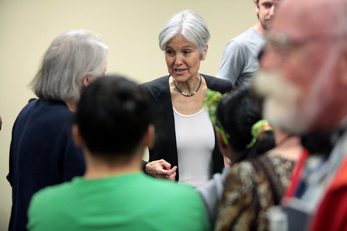 Jill Stein with supporters, From FlickrPhotos