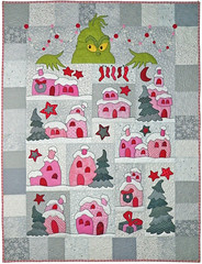 Down in Who-Ville Custom Quilt by Whimzie Quiltz (whimziequiltz) Tags: christmas grinch drseuss whoville customquilt whimziequiltz