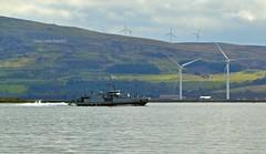 Otra (M351) (Zak355) Tags: boats scotland riverclyde exercise ships navy scottish vessel shipping otra windturbines royalnavy m351 jointwarrior