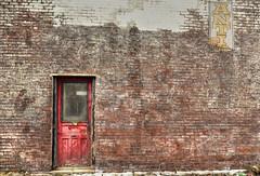 The Red Door (Paul B0udreau) Tags: ontario canada brick sign niagarafalls nikon grunge samsung niagara master layer oldbuilding ribbet empirebuilding photomatix tonemapping nikkor1855mm d5100 samsungmaster paulboudreauphotography nikond5100 photoshopcc