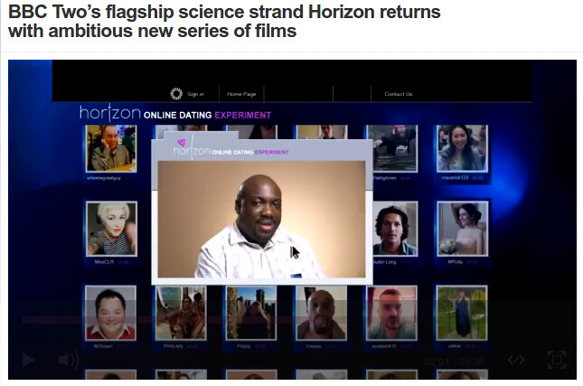 Horizon online dating experiment
