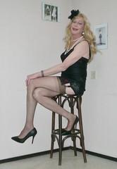 Lingerie. (sabine57) Tags: stockings drag tv pumps highheels cd crossdressing tgirl transgender tranny transvestite slip crossdresser crossdress nylons travestie transvestism corselet